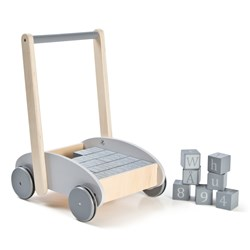 STOY Baby Walker with Block Grey
