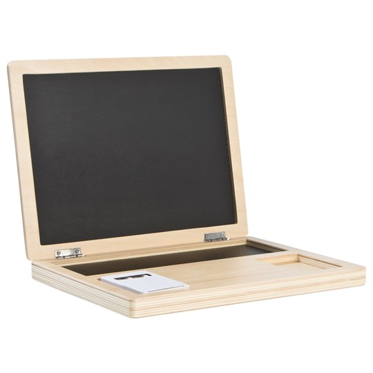 STOY Wood Computer with Blackboard Beige
