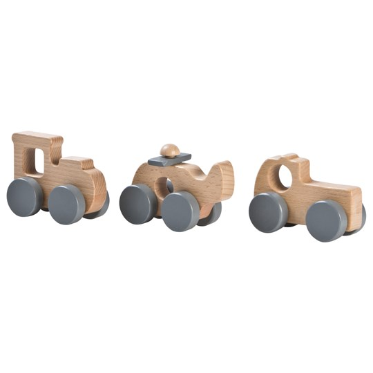 STOY Wood Gift Set Cars Grey Black