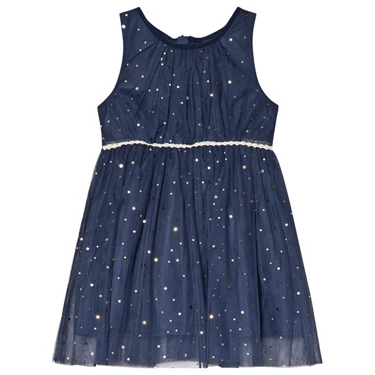 Jocko Navy Dress with Golden Dots Marinblå