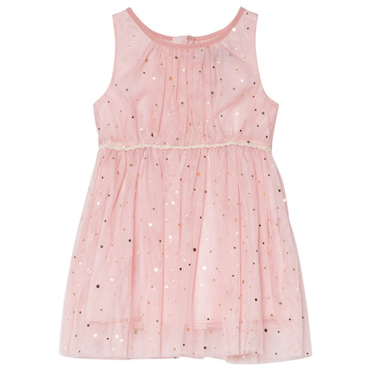 Jocko Pink Baby Dress with Golden Dots Pink