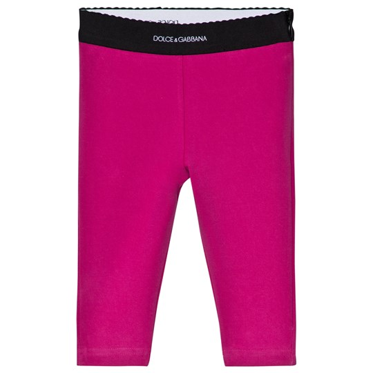 Dolce & Gabbana Pink Logo Interlock Leggings F0877