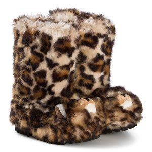 Image of Dolce & Gabbana Brown Leopard Faux Fur Boots 30 (UK 11.5) (1106154)