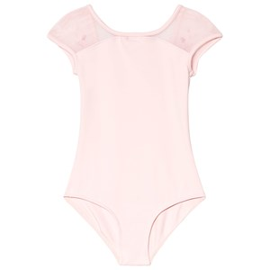 Image of Mirella Pink Embroidered Mesh Scoop Back Cap Sleeve Leotard 2-4 years (1141528)