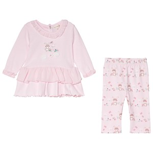 Image of Mintini Baby Pink Top with Frill Bottom and Legging Set 6 mdr (1184290)