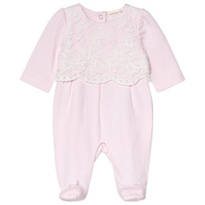Image of Mintini Baby Pink Babygrow with White Embroidary 1 mdr (3065561577)