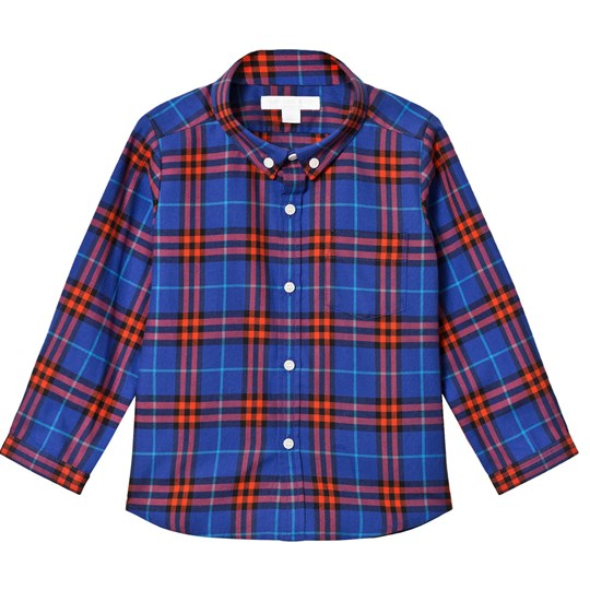 Burberry Blue Check Fred Shirt SAPPHIRE BLUE IP CHK