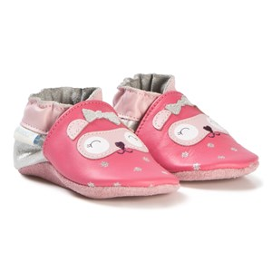 Image of Robeez Soft Soles™ Leather Crib sko Bear Eyes/Pink 17-18 (0-6 months) (3065520601)