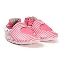 Robeez Soft Soles™ Leather Crib Shoes Sweet Love/Pink