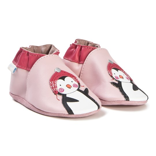 Robeez Soft Soles™ Leather Crib Shoes Penguin Stories/Pink Rose/Pink