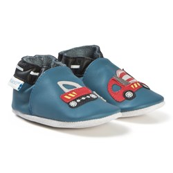 Robeez Soft Soles™ Leather Crib Shoes Handy Boy/Blue Denim