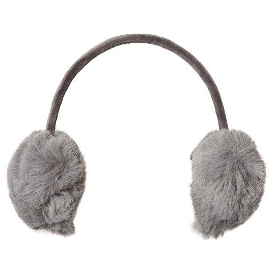 Petit by Sofie Schnoor Grey Heart Ear Warmers Black