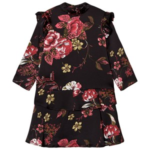 Image of Petit by Sofie Schnoor Black Floral Dress 104 cm (3065554839)