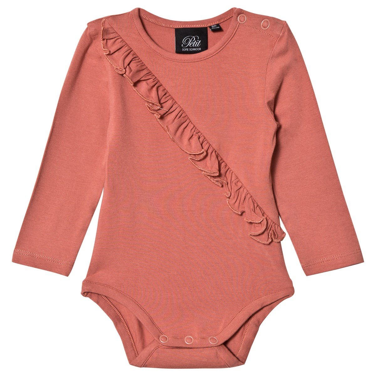551768beb596 petit by sofie schnoor dusty rose frill baby body. BABYSHOP