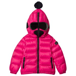 Image of AI Riders on the Storm Fuchsia Down Goggle Hood Coat with Navy Lining 10 years (3065530187)