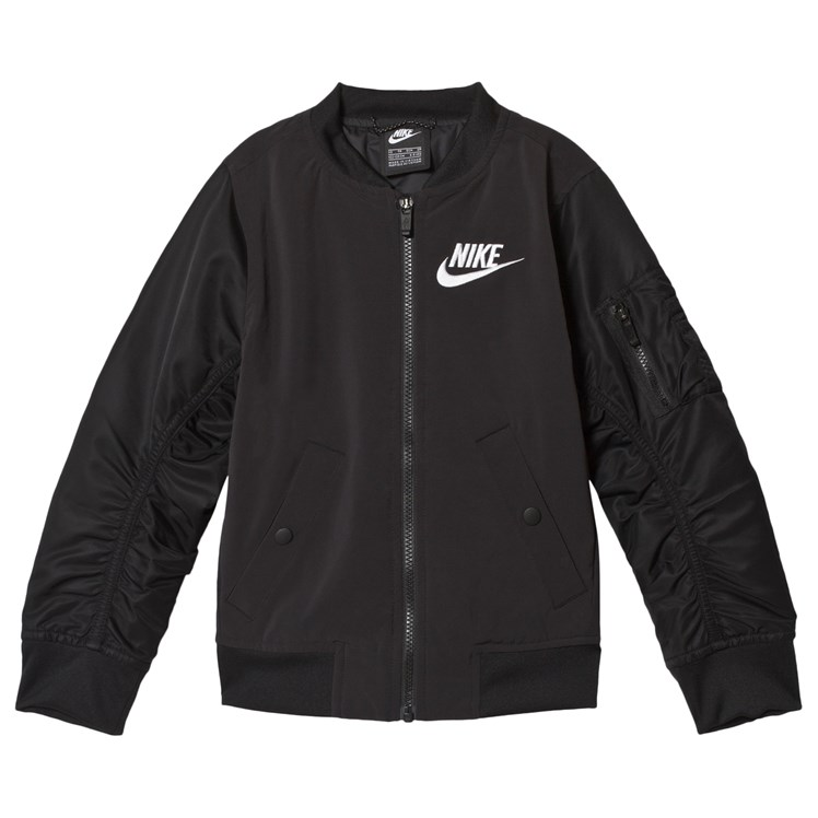 jacket, nike old school, black and white, colorblock, nike