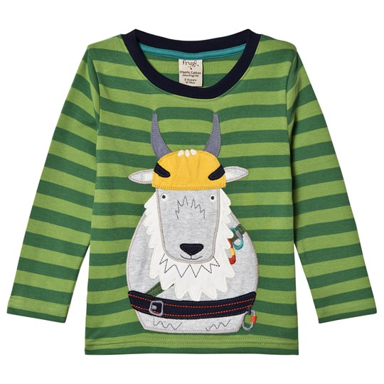 Frugi Discovery Applique Tee Meadow/Goat Meadow/Goat_AW18
