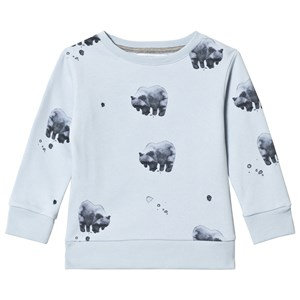Image of One We Like Bear Basic Sweatshirt Baby Blue 10 år (134/140 cm) (3065582075)