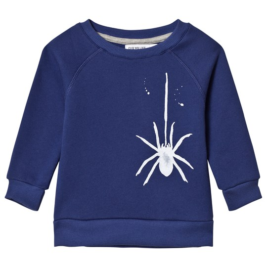 One We Like Spider Raglan Sweatshirt Dark Blue Dark Blue