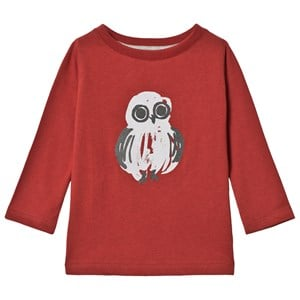 Image of One We Like Owl One T-Shirt Dark Red 1 år (74/80 cm) (1212542)