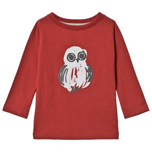Image of One We Like Owl One T-Shirt Dark Red 8 år (122/128 cm) (3065581837)
