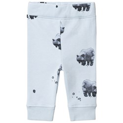 One We Like Bear Relax Pants Baby Blue