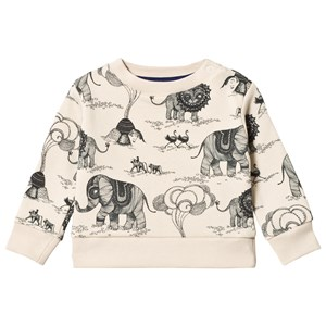 Image of One We Like Africa Revisited Baby Sweatshirt Tapioca 12M (74/80) (3065582421)