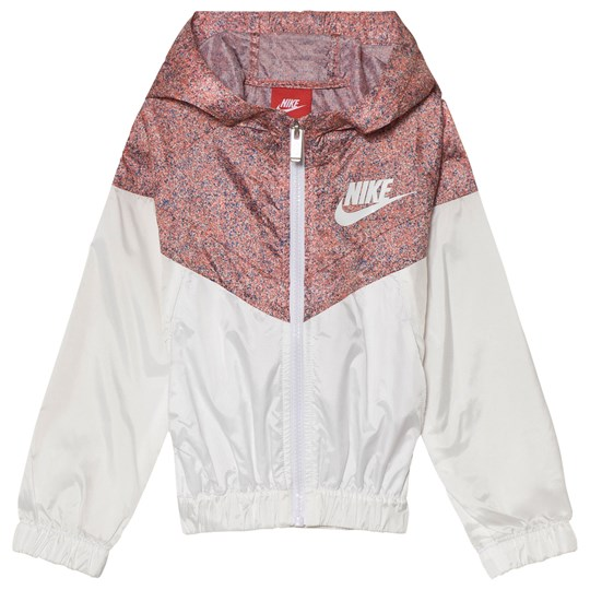 NIKE Pink and White Windrunner Hoodie 001