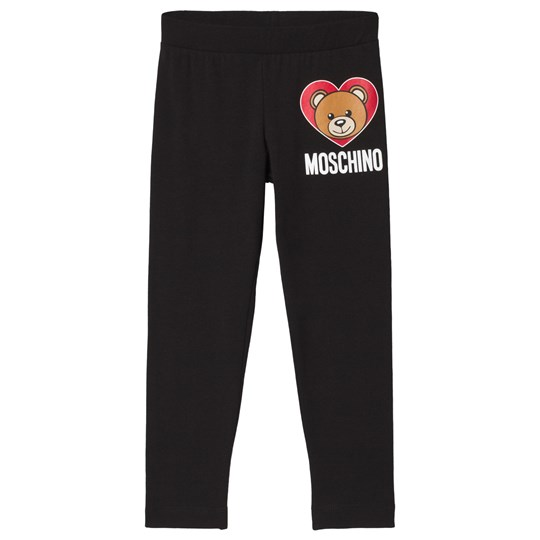 8db0052440347d Moschino Kid-Teen - Black Bear Branded Leggings - Babyshop.com