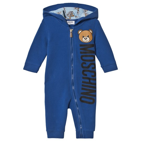 Moschino Kid-Teen Blue Bear Branded Footless One-Piece 40931