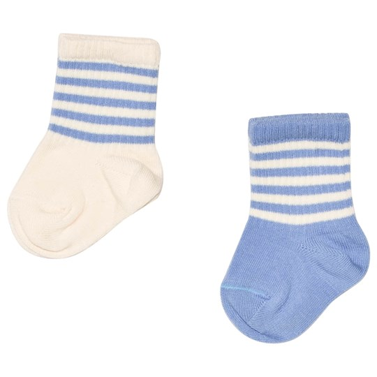 Mini Rodini 2-Pack Socks Blue Blue