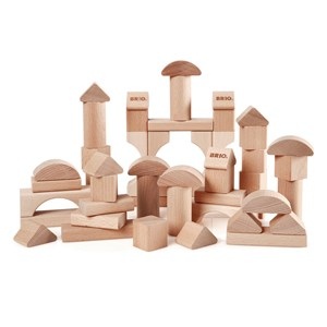 Image of BRIO BRIO Baby - 30113 50 Natural Blocks 12 mdr. - 3 år (3065525583)