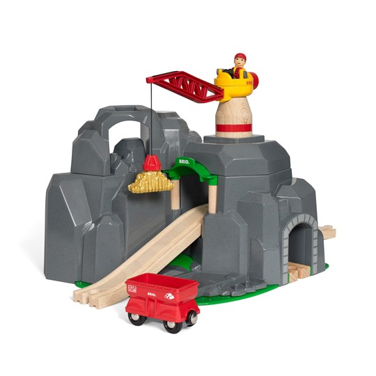 BRIO BRIO® World - 33889 Crane & Mountain Tunnel White