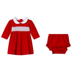 Kissy Kissy Red Christmas Dress and Bloomers Set