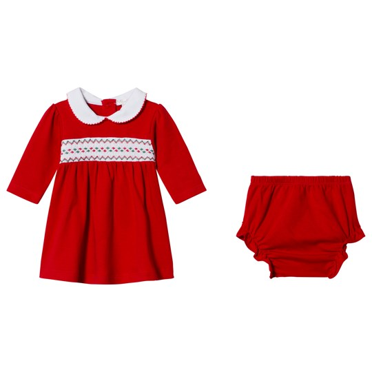 Kissy Kissy Red Christmas Dress and Bloomers Set CLB HOLIDAY
