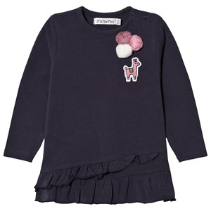 Image of Minymo Embossed Tee Blue Nights 98 cm (2-3 år) (3065582761)