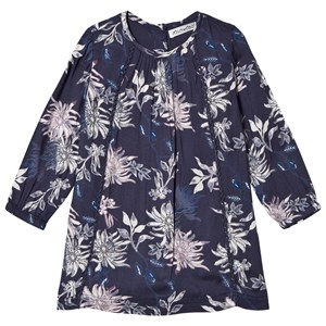 Image of Minymo Printed Dress Blue Nights 80 cm (9-12 mdr) (3065582887)