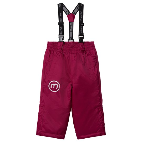Minymo Snow Pants Solid Red Plum Red plum