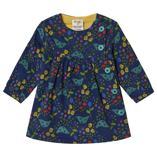 Frugi Forest Dress Navy Forest Forager_AW18