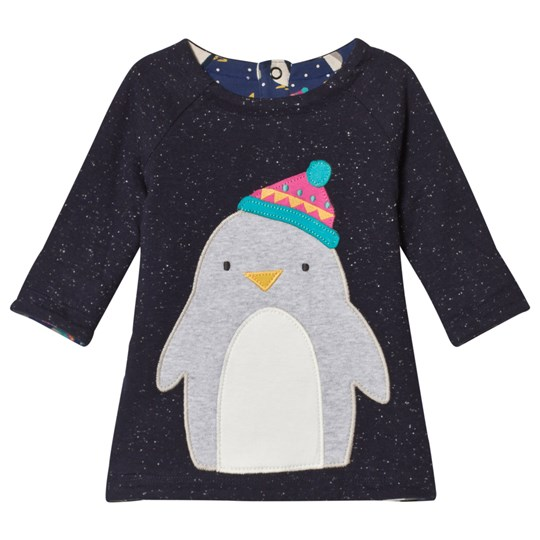 Frugi Winter Penguin Dress Black Penguin Huddle/Penguin_AW18