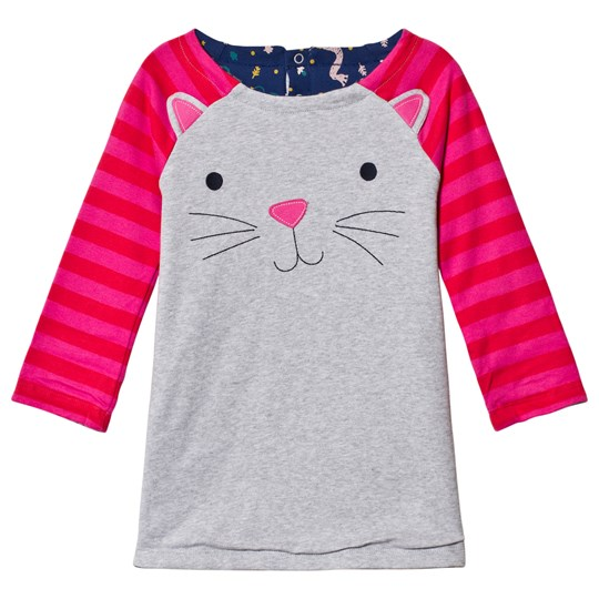 Frugi Cat Dress Grey/Pink Hygge Cats_AW18