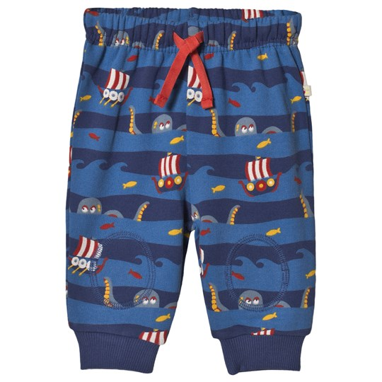 Frugi Kraken Stripe Baby Pants Blue Kraken Up_AW18