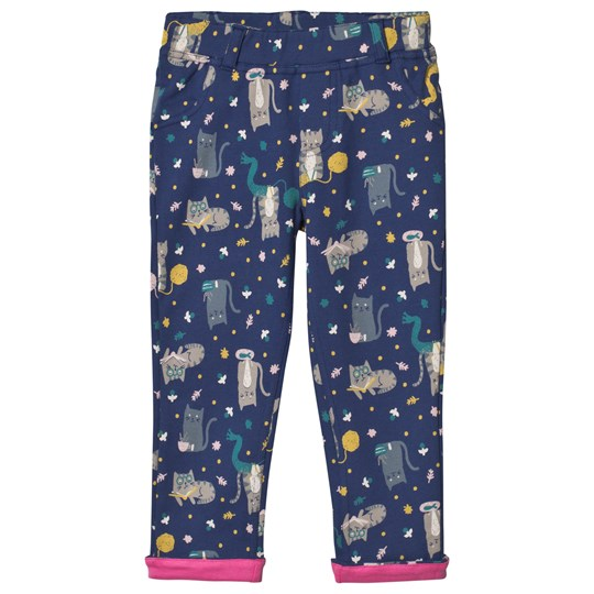 Frugi Tresco Pants Navy Cats Hygge Cats_AW18