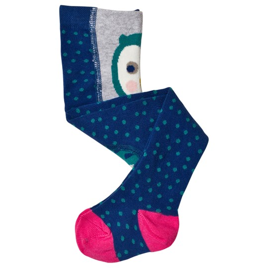 Frugi Owl Tights Navy/Pink True Blue Spot/Barn Owl_AW18