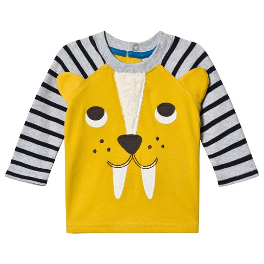 Frugi Yellow Sabre Tooth Tiger Tee Gorse/Sabre Tooth Tiger_AW18