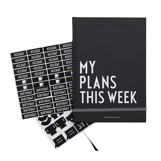 Design Letters My Plans This Week Black