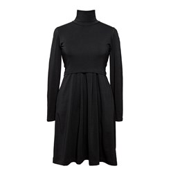 Boob Mimi Turtleneck Dress Black