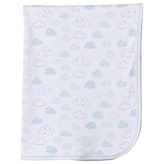 Kissy Kissy Clouds Print Filt Vit/Blå BLUE CLOUDS