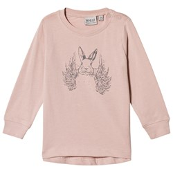 Wheat Flying Rabbit Long Sleeve T-Shirt Soft Rose