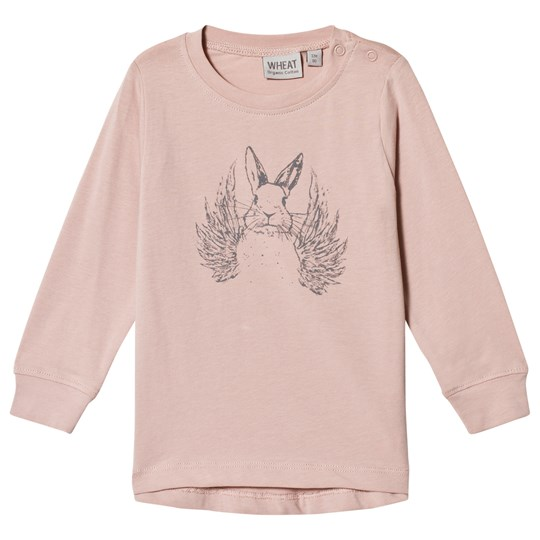 Wheat Flying Rabbit Long Sleeve T-Shirt Soft Rose Rose Powder
